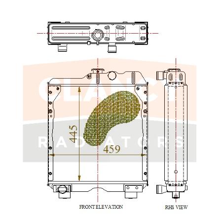 OE Ref 5172926, CASE IH, New Holland radiator.